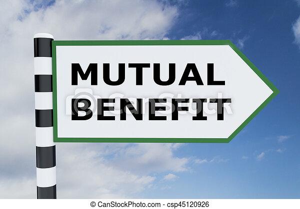 Mutual Benefit concept - csp45120926