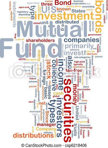 Mutual fund is bone background concept - csp6218406