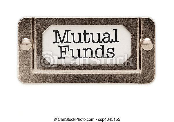 Mutual Funds File Drawer Label - csp4045155
