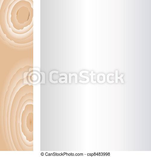 muur, achtergrond., hout, oud, ouderwetse  - csp8483998