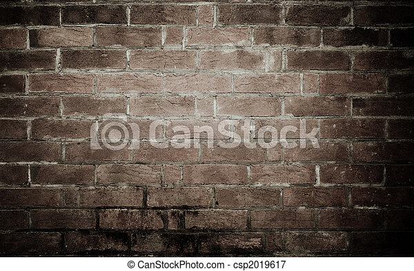 muur, baksteen, oud, achtergrond, textuur - csp2019617