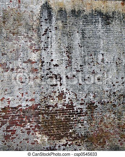 muur, baksteen, oud - csp0545633
