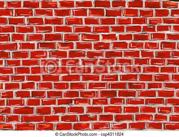 muur baksteen gebruiken geverfde illustratie