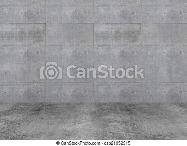 muur, betonnen vloeren - csp21052315