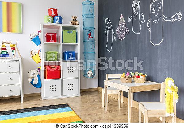 Muur bord kamer kind. kamer bord muur kabinet onderbroek