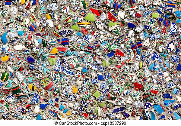 muur, fragmenten, turkse  - csp18337290