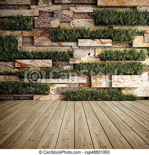 muur, tuinen, verticaal - csp48801950