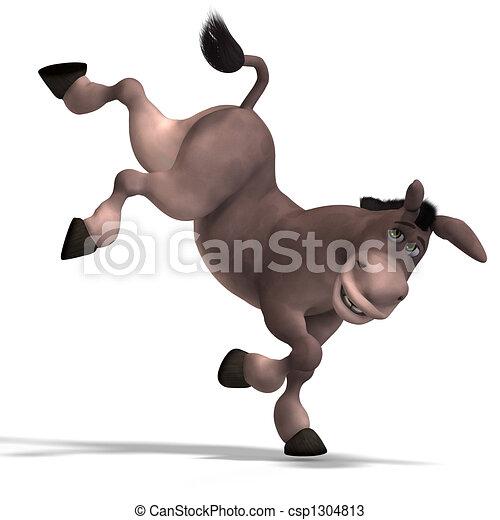 Dibujos de muy lindo burro toon  dulce caricatura burro con