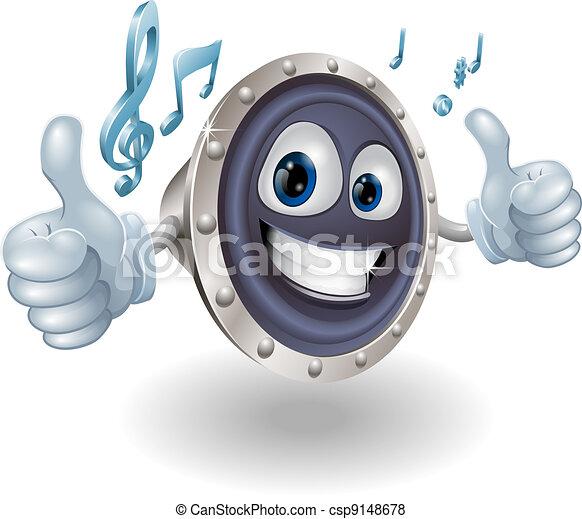 muziek, audio, spreker, karakter - csp9148678