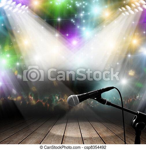 muziek concert - csp8354492