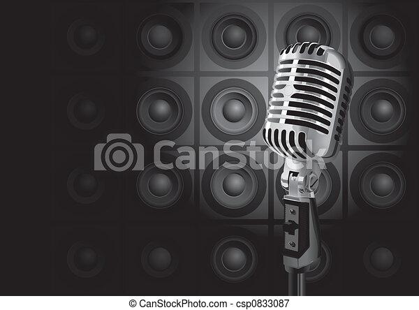 muziek, gebeurtenis, (vector) - csp0833087