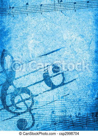 muziek, grunge, achtergronden - csp2998704