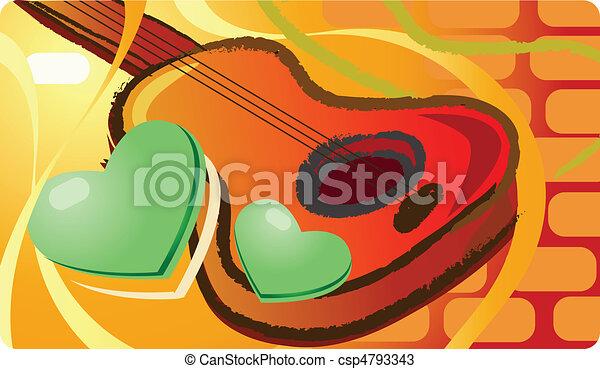 muziek, lo, instrumenten, viool - csp4793343