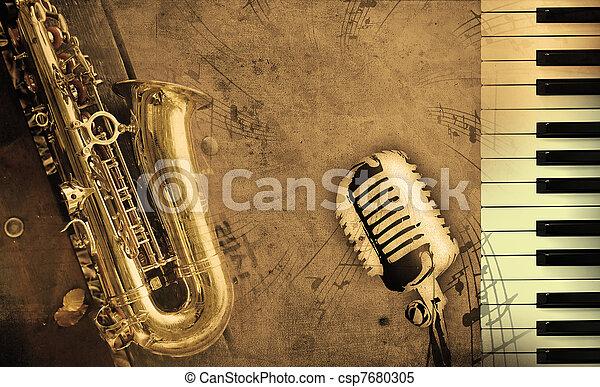 muziek, vieze , achtergrond - csp7680305