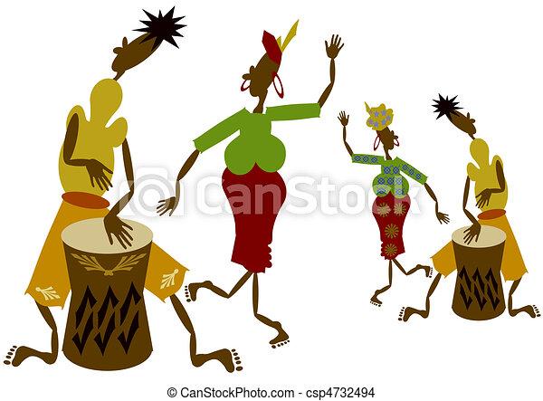 muzycy, afrykanin - csp4732494