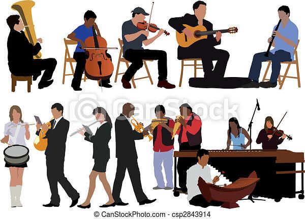 muzycy, zbiór - csp2843914