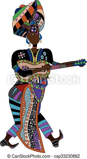 muzyk, etniczny - csp33230862