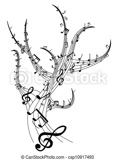 muzyka, drzewo - csp10917493