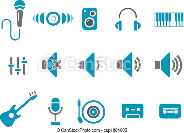 muzyka, ikona, komplet - csp1884005