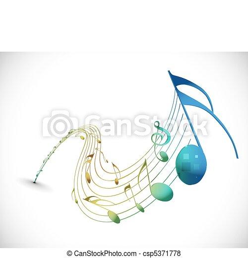 muzyka notatnik - csp5371778