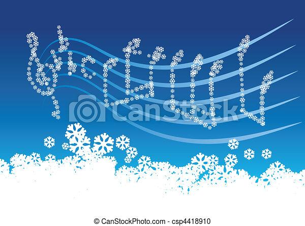 muzyka, zima - csp4418910