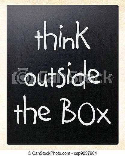 myśleć, zewnątrz, -, boks, pojęcie - csp9237964