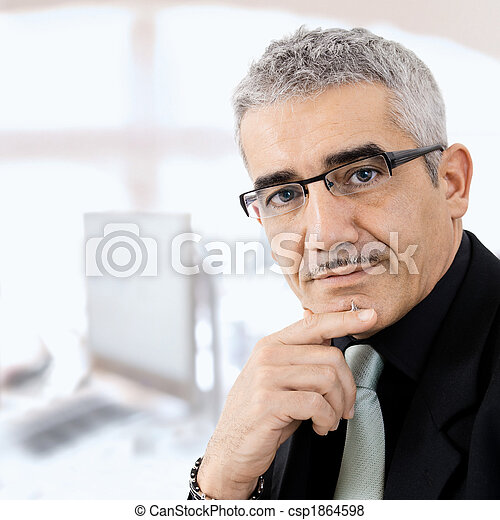 myślenie, biznesmen, dojrzały - csp1864598