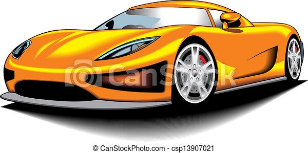 my couleur voiture jaune design sport mon original my couleur voiture isol fond. Black Bedroom Furniture Sets. Home Design Ideas