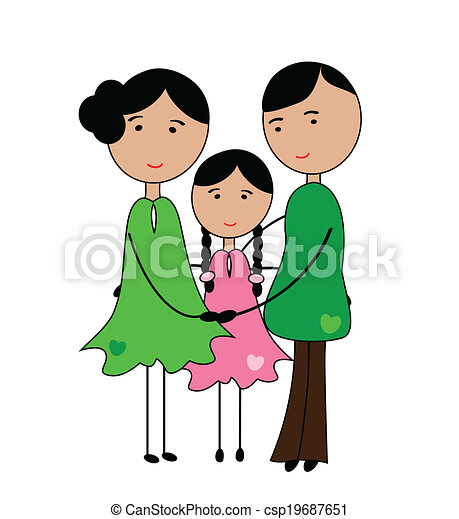 my family. i love my parents-happy family clipart vector - search