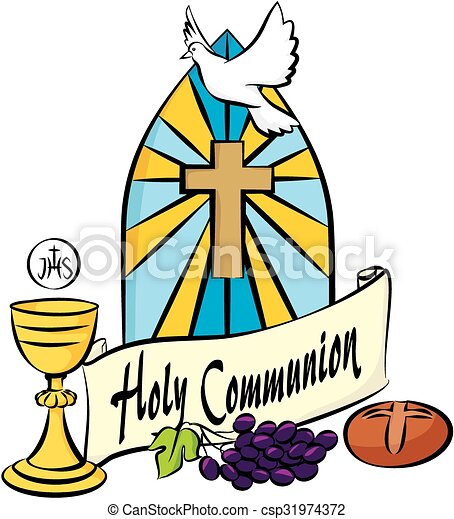my first holy communion holy communion items on the vectors rh canstockphoto com first communion clip art borders first communion clip art borders