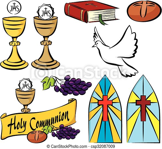 my first holy communion vector set of holy communion vector rh canstockphoto co nz first holy communion pictures clip art catholic first holy communion clip art