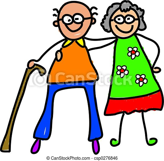 my grandparents picture of a happy elderly couple drawn from a rh canstockphoto com visit grandparents clipart visit grandparents clipart