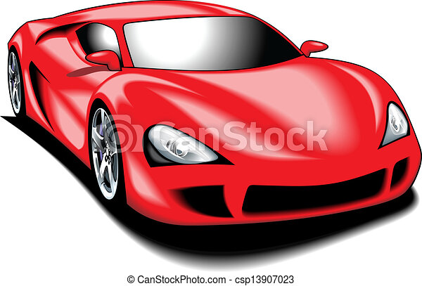 my original sport car my design in red color isolated on the white rh canstockphoto com cute red car clipart red sports car clipart