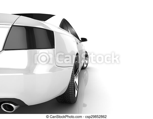 My own car design background 3d render