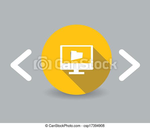 my pc icon - csp17394908