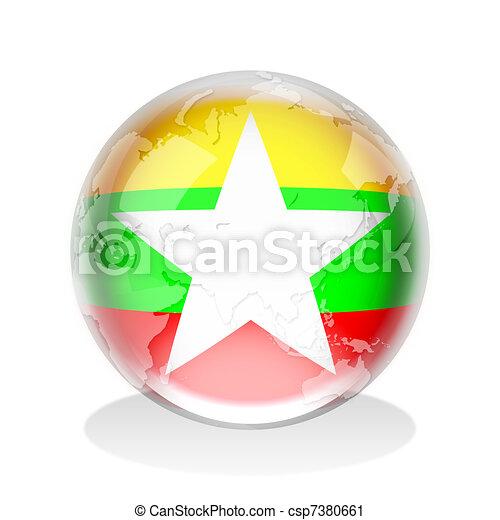 Myanmar Crystal Sphere - csp7380661