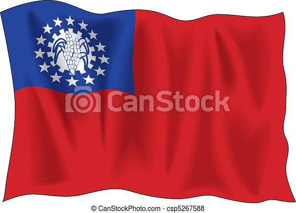 Myanmar flag - csp5267588
