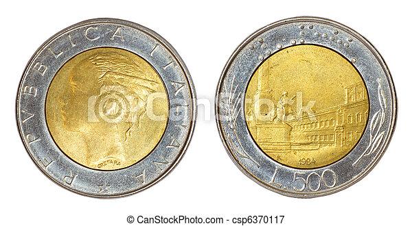 mynt, italien, retro - csp6370117