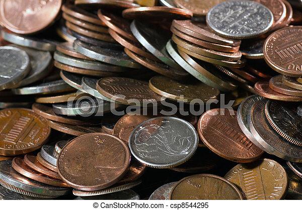 mynter, hög, oss - csp8544295