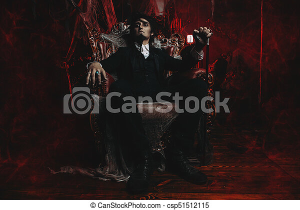 mysterious gloomy man - csp51512115