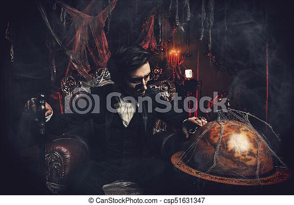 mysterious gloomy man - csp51631347