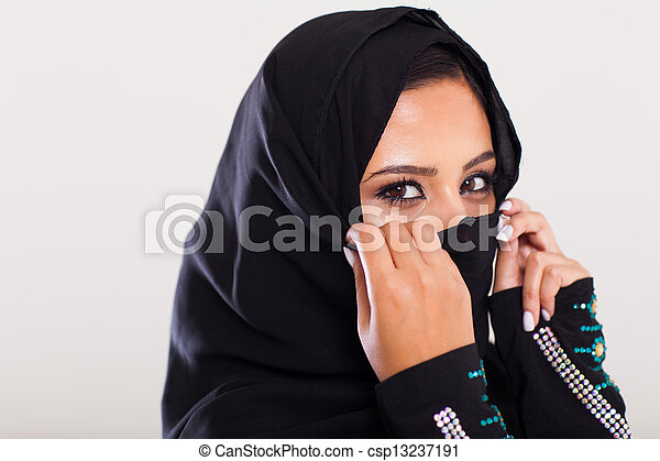 mysterious middle eastern woman - csp13237191