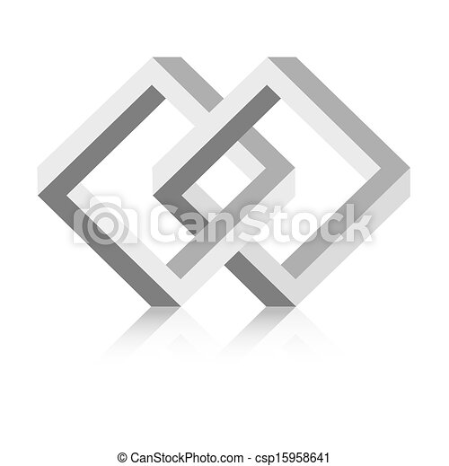 Mysterious Square Connection The Abstract Graphic Symbol Made Out