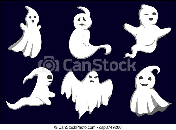 Mystery ghosts - csp3749200