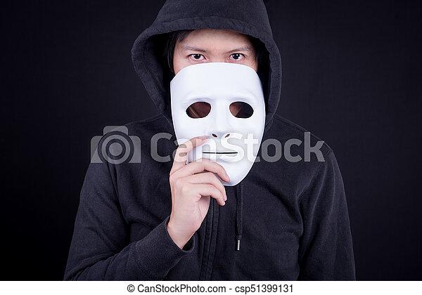 Free photo Hand Mystery Man Blue Eyes Mask - Max Pixel