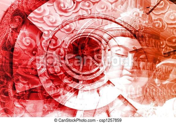 Mystical Asia Montage - csp1257859