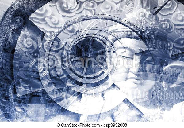 Mystical Asia Montage - csp3952008