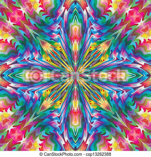 Mystical baroque cross pattern - csp13262388