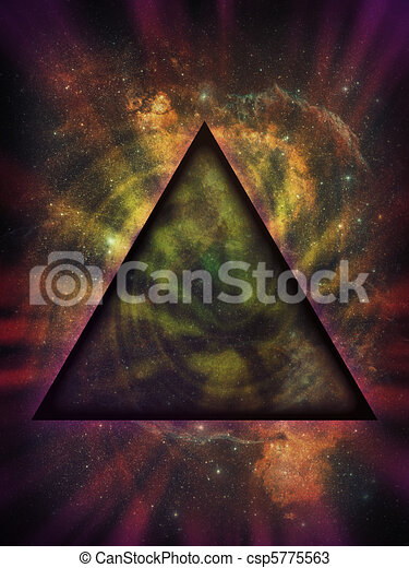 Mystical Triangle Against Deep Space Background - csp5775563