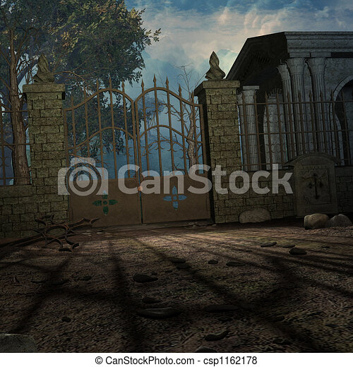 mystisk, kyrkogård - csp1162178